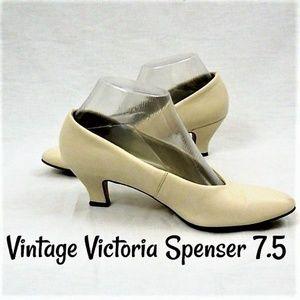 Victoria Spenser Cream Pumps Vintage Shoes